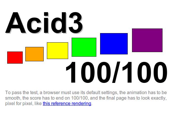 Acid3-Ergebnis: 100/100